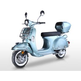 BMS Chelsea 150cc Vespa Style Scooter Honda Clone 4stroke Engine, Vespa Vintage body style, Dual rear suspension, Newly Designed Aluminum Wheels with white wall and much more , Fully assembled!