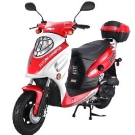 PRO TT VIP50 4 Stroke 50cc Gas Scooter w/ Sporty Style with, Aluminum Piston, Performance Muffler