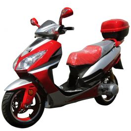 "PRO Eagle MCR-75Y-150 150cc Gas Scooter with Honda Clone GY6 Engine, BIG 13"" Aluminum Rims, Upgraded Aluminum Floor Board, Dual Headlight"