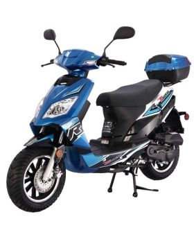 PRO TT Thunder (Blade 50) 50cc 4 Stroke 50cc Gas Scooter with Front Disc Brake and Rear Drum Brake, Big 12inch wheels, LED Light