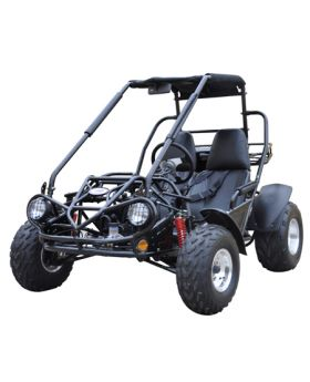 PRO Trail Master 150cc Large Size (Fits Adult and Big Youth) XRS Go Kart ( Fully Automatic, Hi-Power 4-Stroke 150cc Engine, Electric Start, Adjustable Seat, 4-Point Harness Belt, Toll Hitch, Rear Storage Rack)