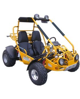 PRO Trail Master 150cc Large Size (Fits Adult and Big Youth) XRX Go Kart ( Fully Automatic, Hi-Power 4-Stroke GY6 150cc Engine, Electric Start, Adjustable Seat, Heavy Duty F/R Shock, 4-Point Harness Belt, Large Gas Tank Horn, Toll Hitch)
